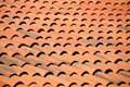 Old red tiles roof background architecture Stock Image