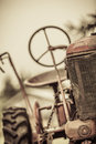 Old Red Vintage Tractor Royalty Free Stock Photo