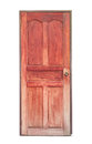 Old red wooden door isolated on white background Royalty Free Stock Photo