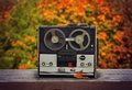 Old reel tape recorder Royalty Free Stock Photo