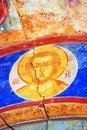 Old religious painting it s damaged yaroslavl august saint nicolas church in yaroslavl russia popular touristic landmarks Stock Images
