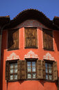 Old renaissance house in plovdiv town bulgaria Stock Photography