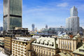 Old residences and modern office buildings at Warsaw Royalty Free Stock Photo