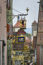 Old restaurant signs rothenburg in ob der tauber germany Stock Images