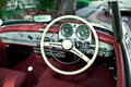 Old retro car interior Stock Photography