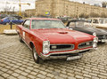 Old retro car pontiac moscow april on rally of classical cars on poklonnaya hill april in town moscow russia Stock Image