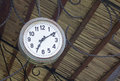 Old retro clock of one station Royalty Free Stock Photo