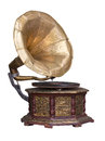 Old retro gramophone. Royalty Free Stock Photo