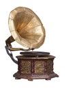 Old retro gramophone. Royalty Free Stock Photo