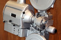 Old retro movie projector closeup Royalty Free Stock Photo