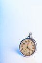 Old retro pocket watch space text Stock Image