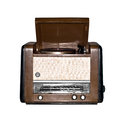 Old retro radio isolated on white background Royalty Free Stock Photography