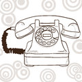 Old retro telephone Stock Photography