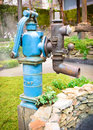 Old retro water pump garden Royalty Free Stock Images