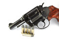 Old revolver with bullets Royalty Free Stock Image