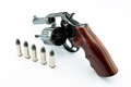 Old revolver with bullets Royalty Free Stock Photography