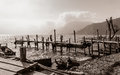 Old Rickety Wooden Piers Out I...