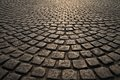 Old Road Paved Royalty Free Stock Photo