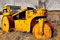 Old road roller Stock Image