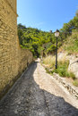 Old road in the village of gordes luberon france Stock Photos