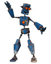 Old robot dancing the is Stock Photo