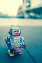 Old robot toy Royalty Free Stock Photo