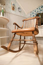 Old rocking chair sweden hand made Stock Photos