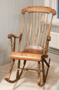 Old rocking chair sweden hand made Royalty Free Stock Image