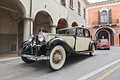 Old rolls royce an car runs along the city during the rally meeting fiat e auto d epoca on november in bagnacavallo ra italy Stock Photography