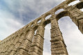 Old roman aqueduct segovia spain Royalty Free Stock Images