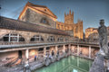 Old roman baths in bath avon Royalty Free Stock Images