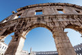 Old Roman coliseum Royalty Free Stock Photography