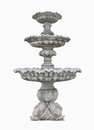 Old Roman Fountain isolated on white background. Clipping path. Royalty Free Stock Photo