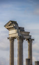 Old roman pillars in the  archeological park of Xa Royalty Free Stock Photos