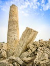 Old roman ruins column Stock Image