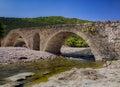 Old Roman stone bridge Royalty Free Stock Photo