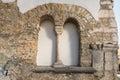 Old roman surrounding wall of the castra regina in Regensburg, Germany Royalty Free Stock Photo