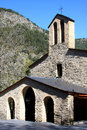 Old romanesque chapel in Andorra Stock Photo