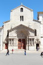Old romanesque church of Saint Trophime, Arles, France Royalty Free Stock Photo