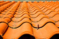 old roof in italy the  texture of diagonal architecture Royalty Free Stock Photo
