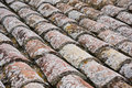 Old roof tile background close up Royalty Free Stock Images