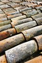 Old roof tiles. Royalty Free Stock Image