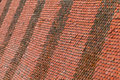 Old roof tiles closeup texture of red Royalty Free Stock Photos