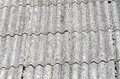 Old roof unhealthy fiber asbestos home Stock Photos