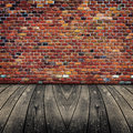 Old room with brick wall ready for product montage display Royalty Free Stock Photography