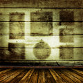 Old room with old wooden walls Royalty Free Stock Photo