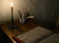 Old room with a writer s desk Royalty Free Stock Photos