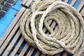 Old rope a roll of Royalty Free Stock Image