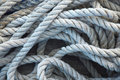 Old rope roll of background Royalty Free Stock Image