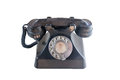Old rotary phone an isolated Royalty Free Stock Photos